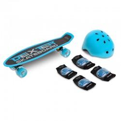 Skateboard cu casca si...